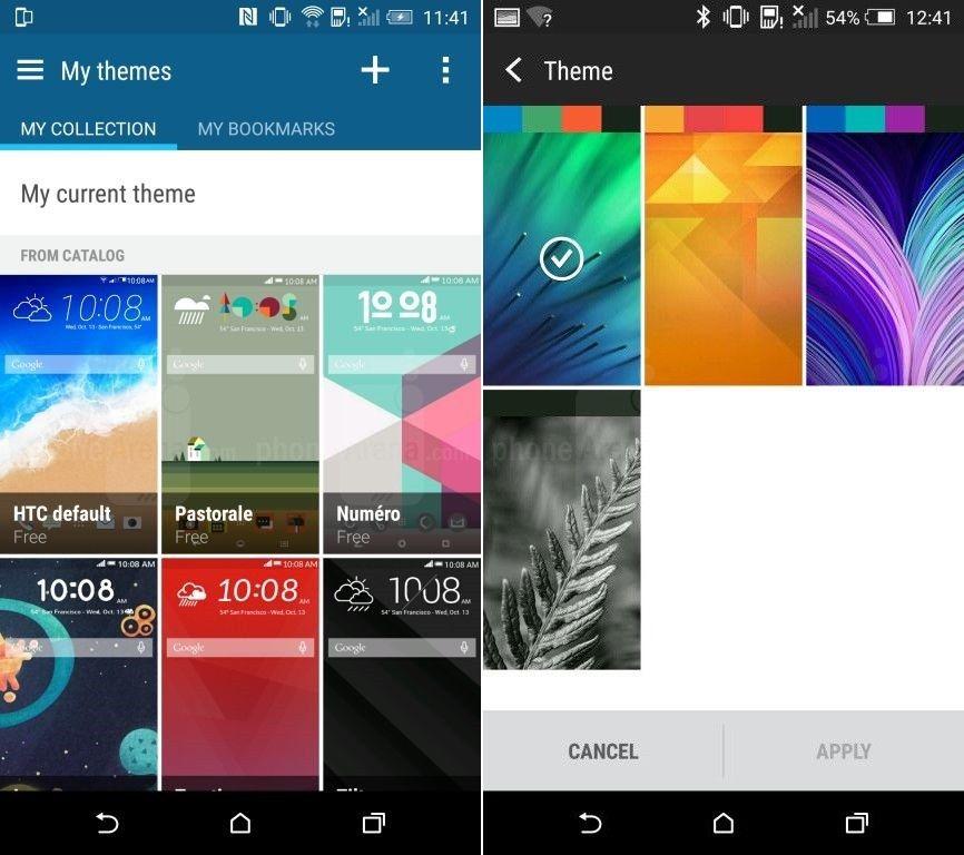 HTC One M9 HTC Sense 7 thèmes