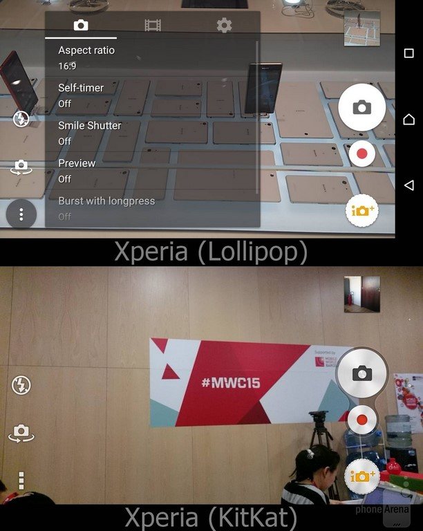 Sony Xperia UI Lollipop Appareil photo