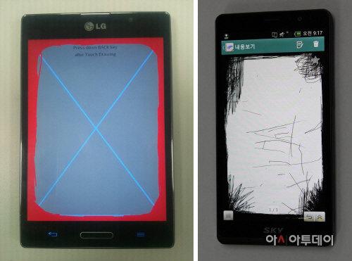 Test des écrans sur smartphone