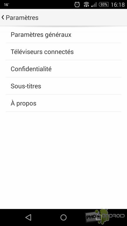 TV connectée YouTube
