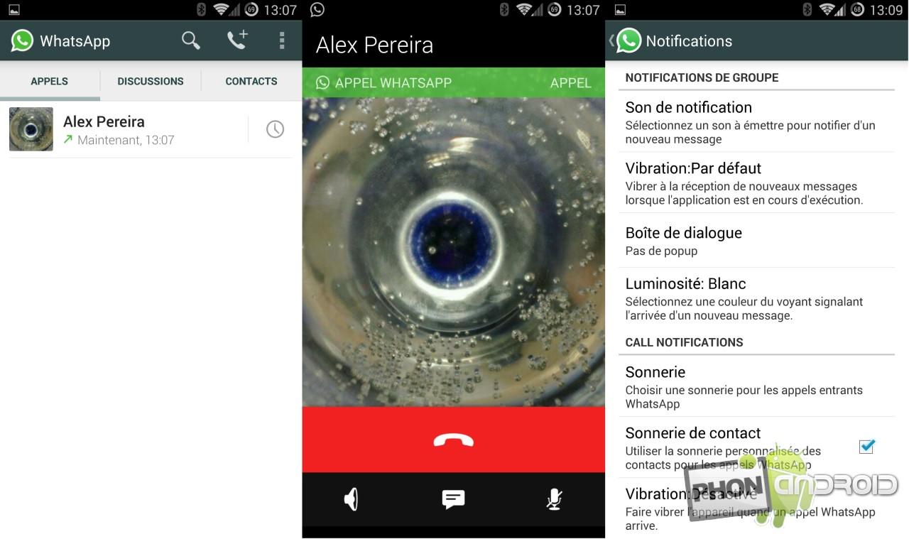 Whatsapp, les appels sont disponibles pour tous