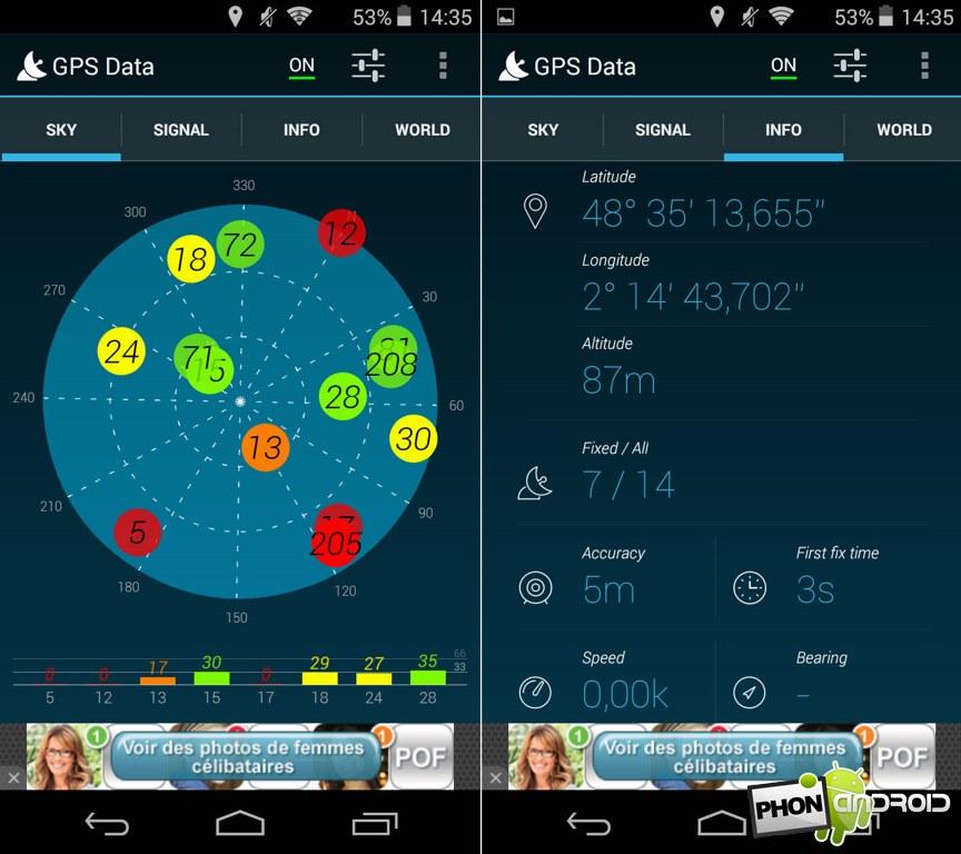 wiko ridge 4g gps data