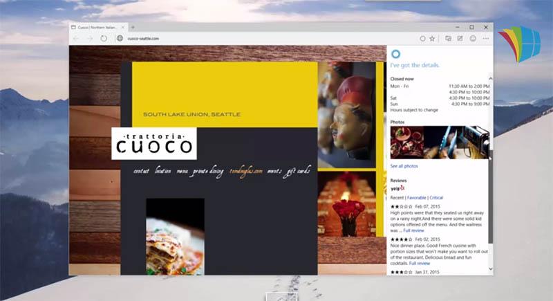 windows 10 spartan cortana video bluffante