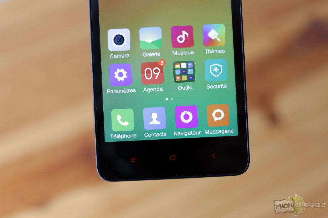 xiaomi redmi 2 touche tactile