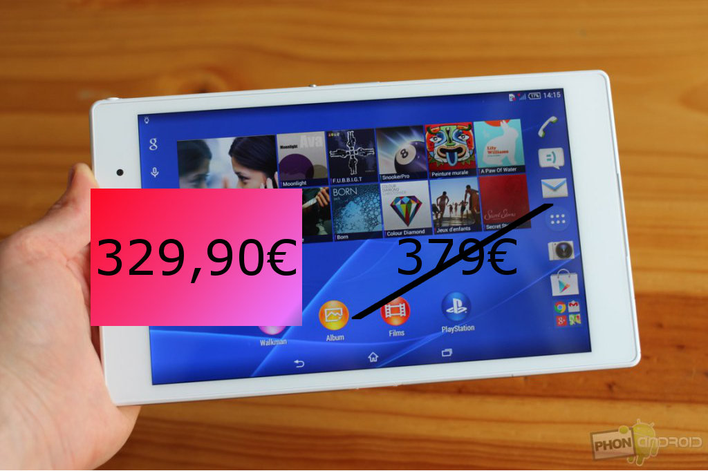 Xperia Z3 Tablet Compact, bon plan Amazon