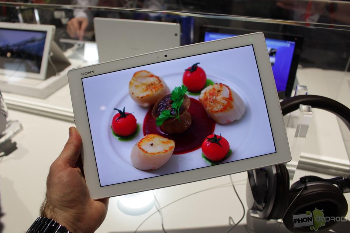 Xperia Z4 Tablet, une tablette légère