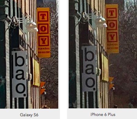 Galaxy S6 vs iPhone 6 Plus zoom