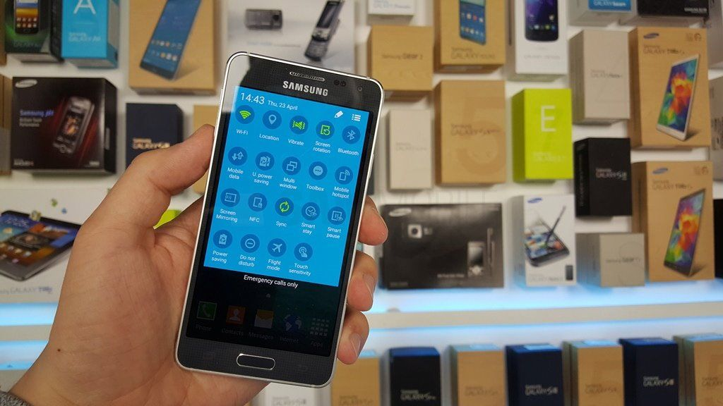 Galaxy Alpha Lollipop parametres rapides