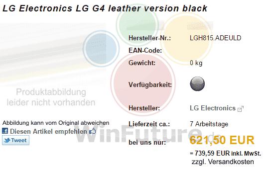 LG G4 cuir prix