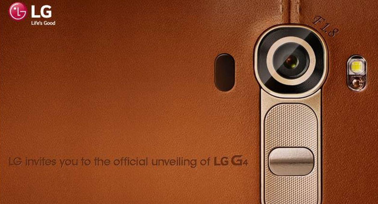 LG G4 dos cuir