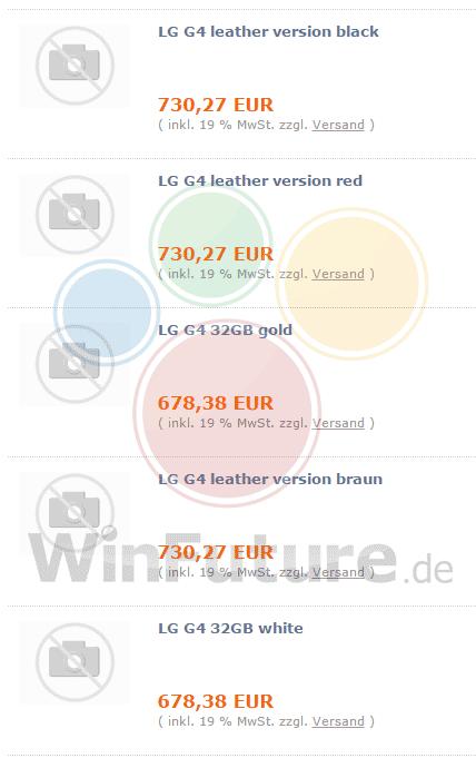 LG G4 prix euros