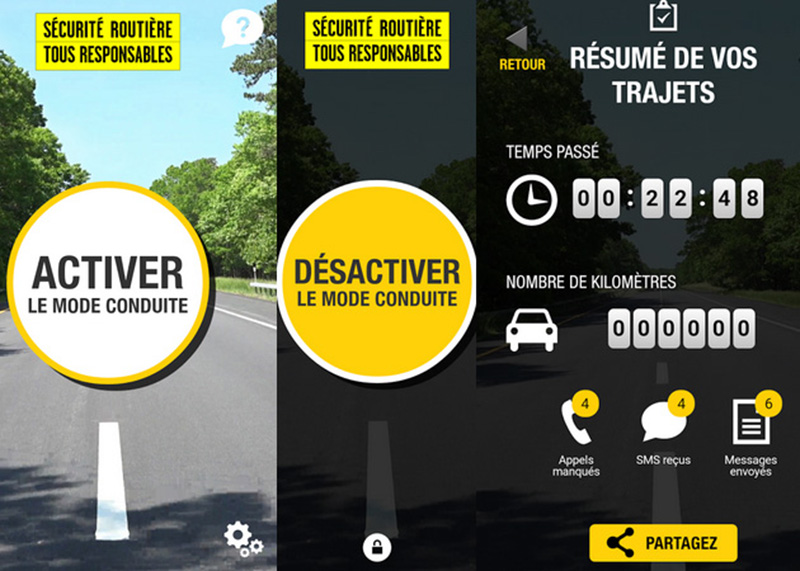 mode conduite android securite routiere