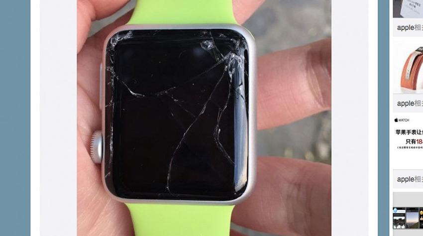 Apple Watch, écran brisé