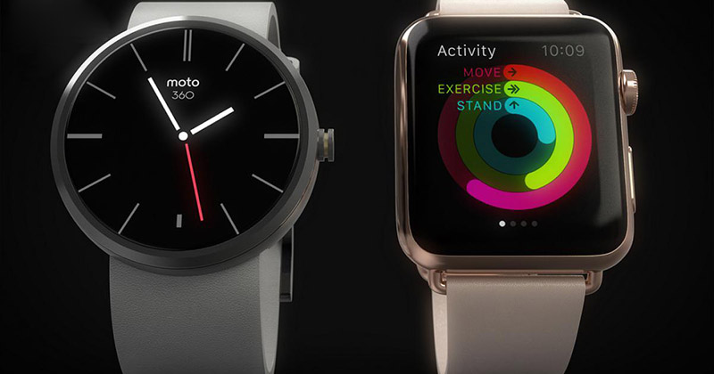 apple watch moto 360 tracker activite