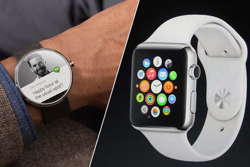 apple watch vs moto 360 ecran