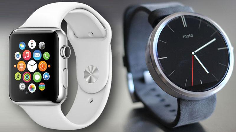 apple watch vs moto 360 match sommet terrain montres connectees
