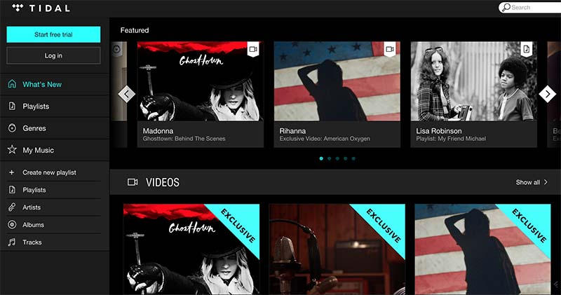 comparatif streaming musical tidal