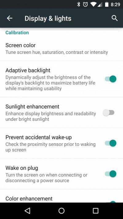 Cyanogen OS 12 luminosite
