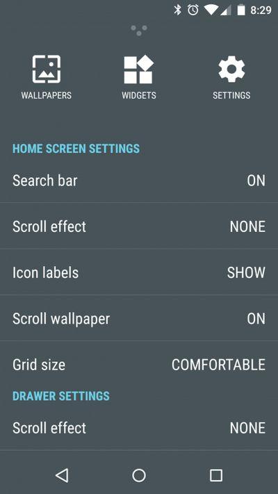 Cyanogen OS 12 parametres accueil