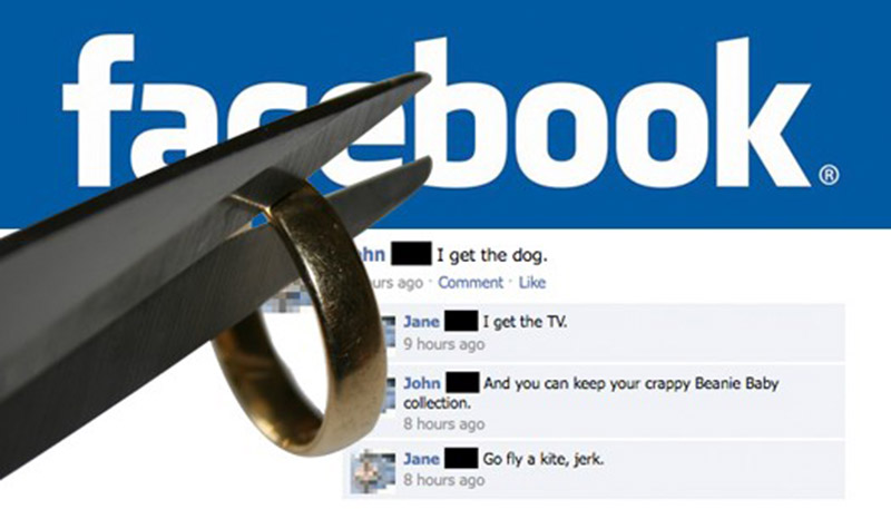 facebook demander divorce possible