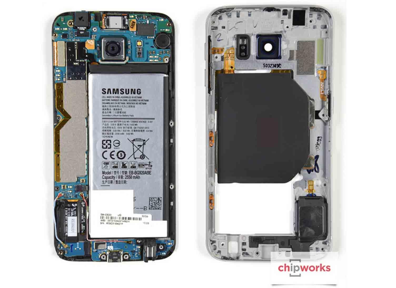 galaxy S6 S6 edge vu interieur