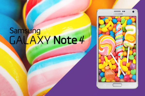 galaxy note 4 lollipop une