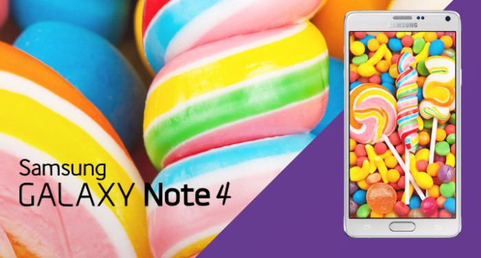 galaxy note 4 lollipop