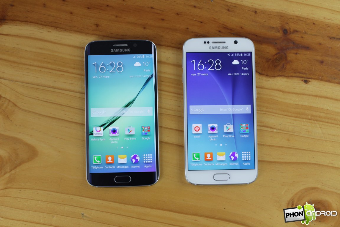 galaxy s6 comparatif s6 edge