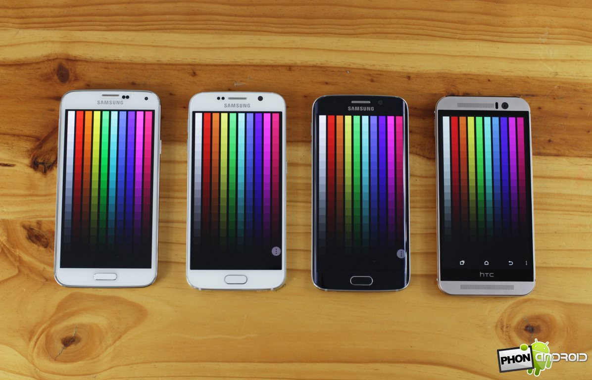 galaxy s6 couleurs ecran