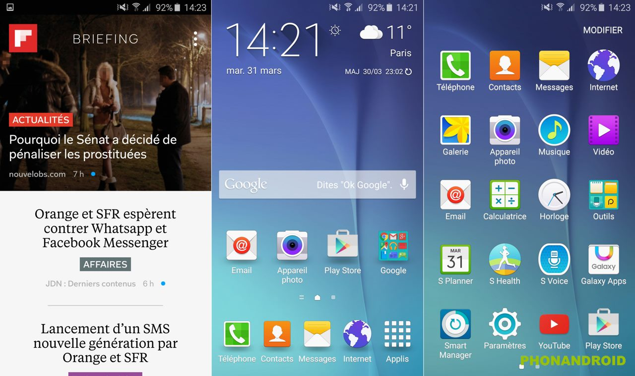galaxy s6 edge interface touchwiz