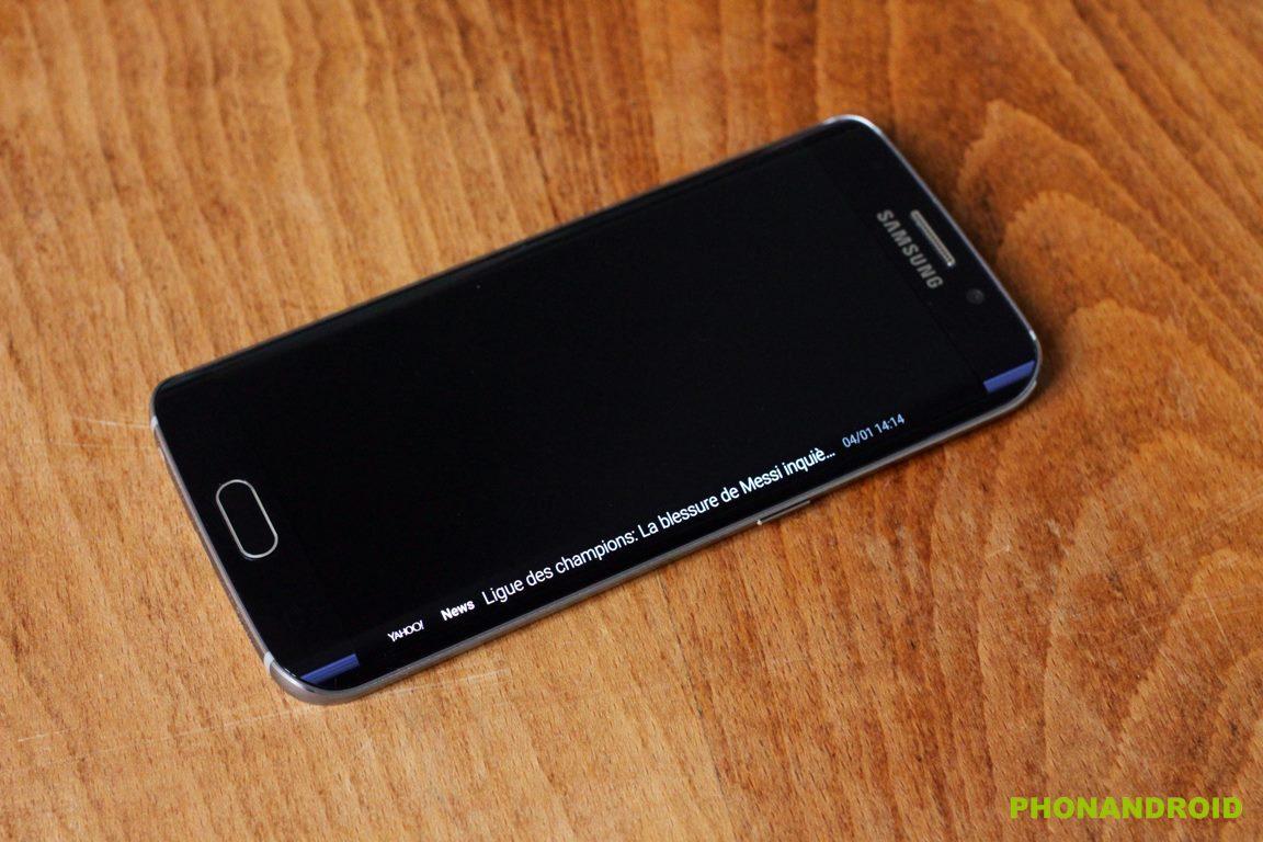 galaxy s6 edge notification ecran