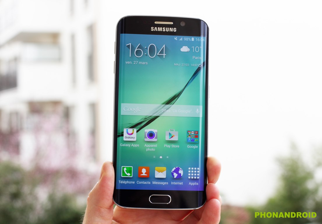 prise en main Galaxy S6 Edge