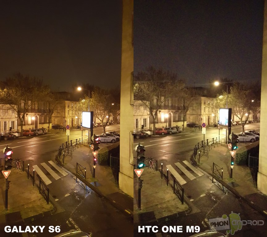 galaxy s6 htc one m9 photo nuit