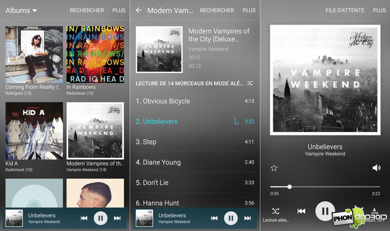 galaxy s6 musique