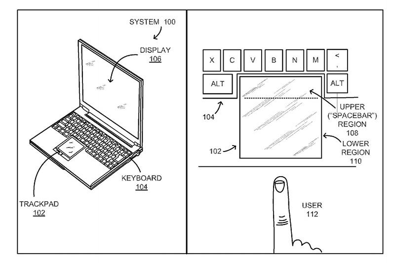google barre espace trackpad