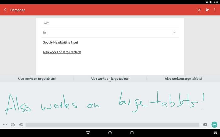 google ecriture manuscrite tablette