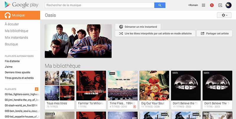 google music comparatif streaming musique