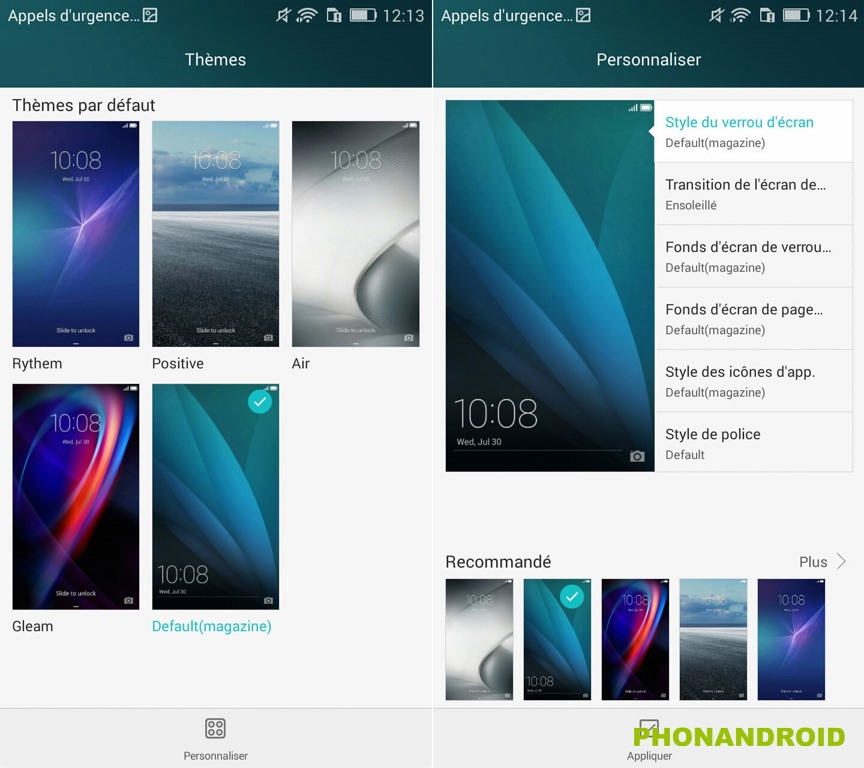 honor 4x themes
