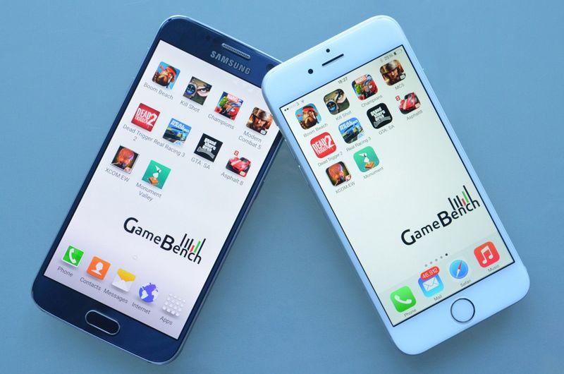 iPhone 6 vs Galaxy S6 Gamebench