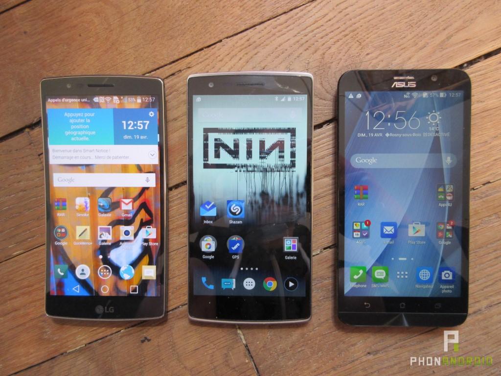 LG G Flex 2, comparatif Zenfone 2