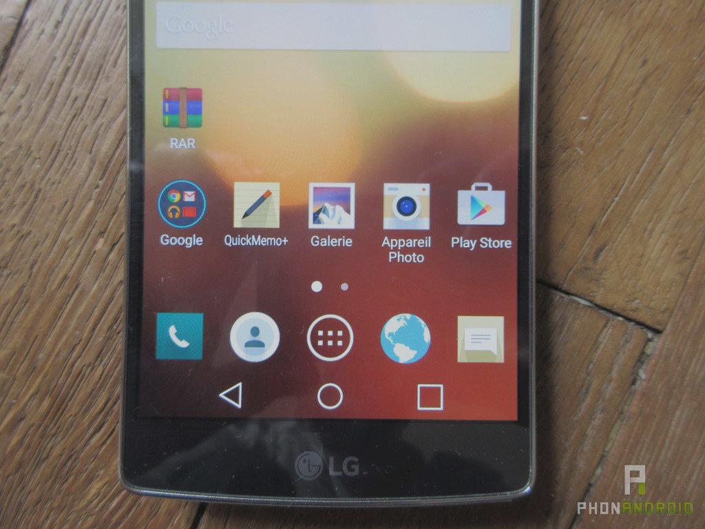 LG G Flex 2 détail écran