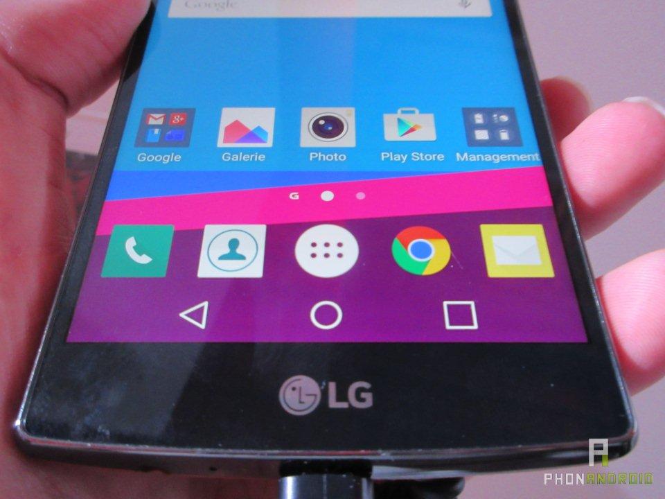 LG G4, angles de vision