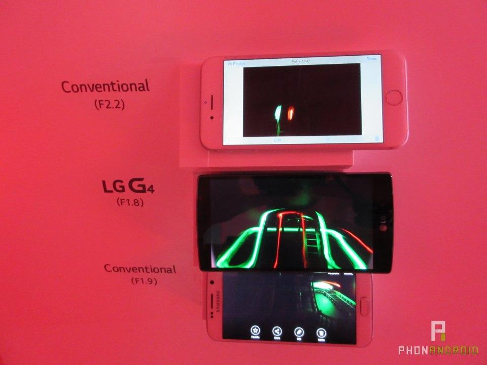 LG G4, comparatif avec Apple et Samsung