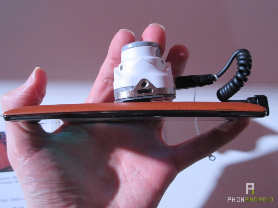 LG G4, une coque amovible