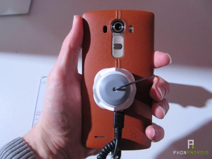 LG G4, coque en cuir
