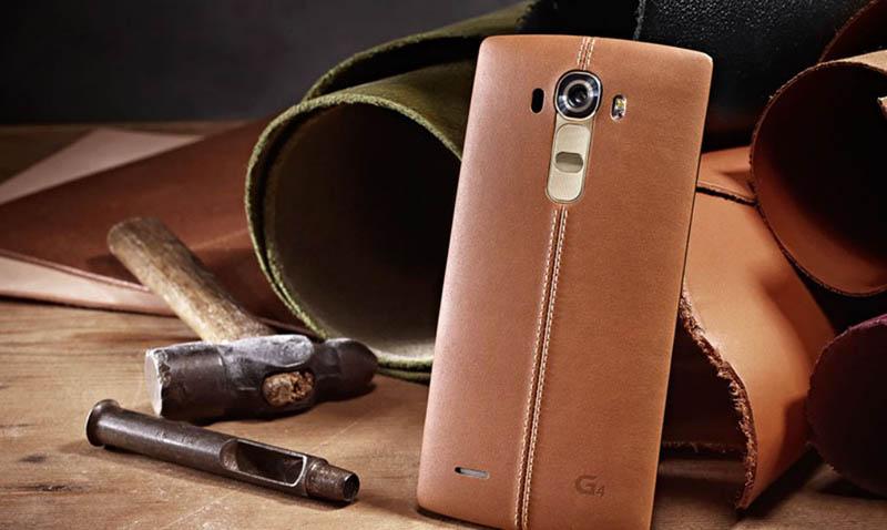 lg g4 design cuir marron