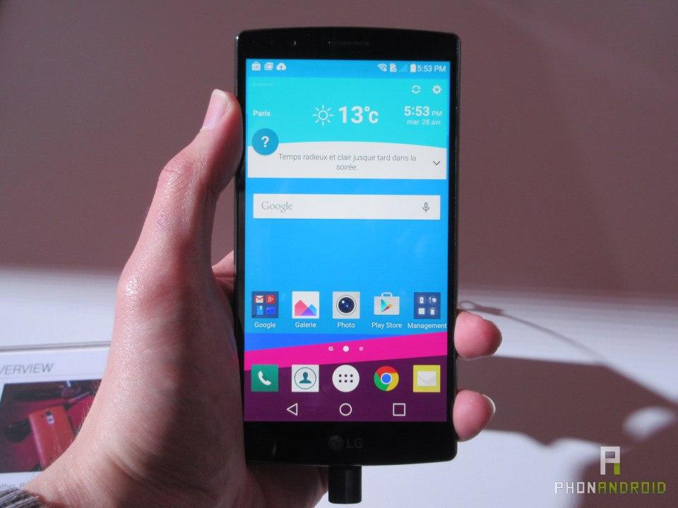 LG G4, écran lumineux