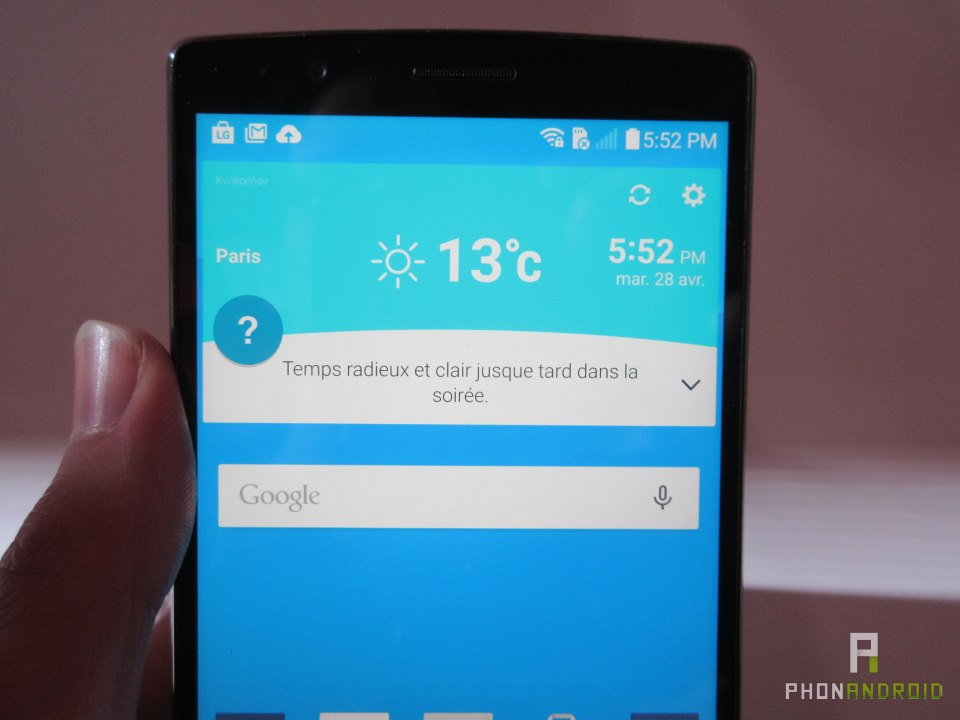 LG G4, écran QHD