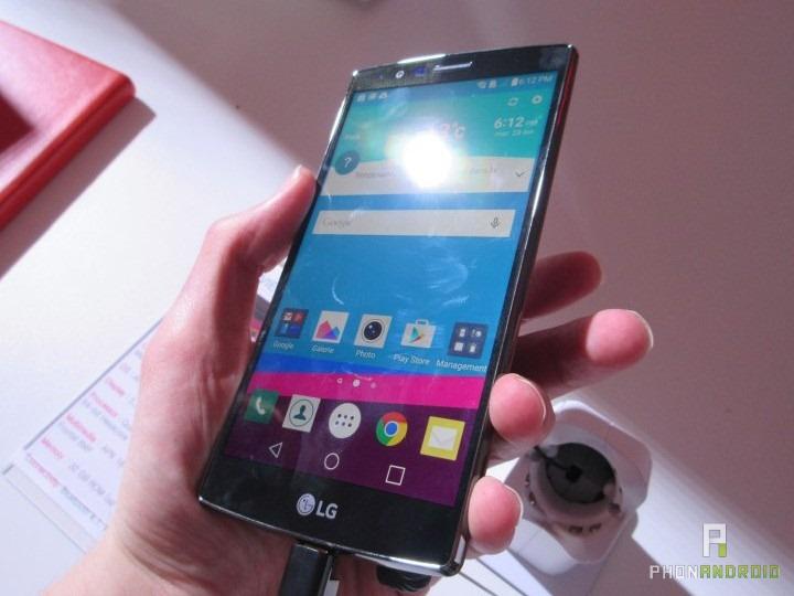 LG G4, lisibilité lumière