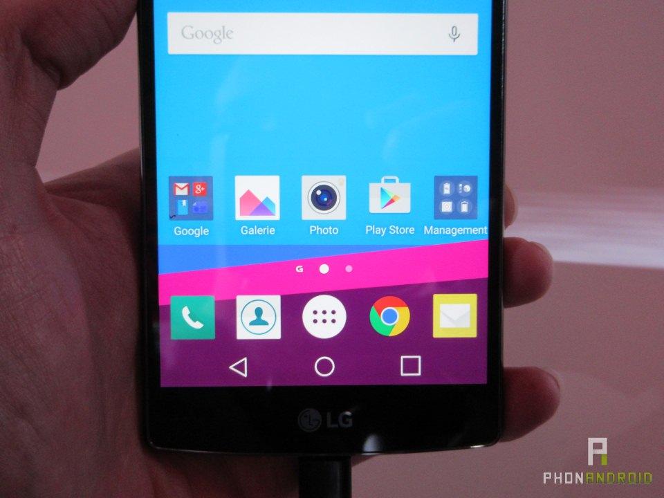 LG G4, meilleure lisibilité